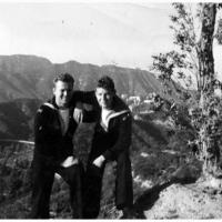 Beverly Hills en Hollywood dans le fond